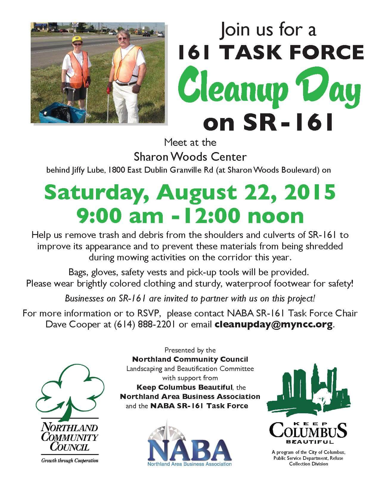 161 Clean Up Day August 22 2015